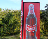3D Flag (small) für Coca Cola