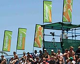 Double Tension Flags (Small) beim Supradyn Beach Volleyball Turnier